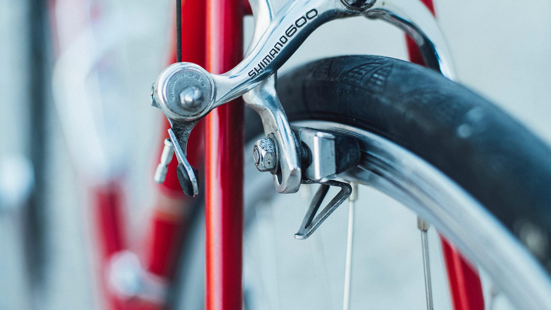 Närbild på cykel
