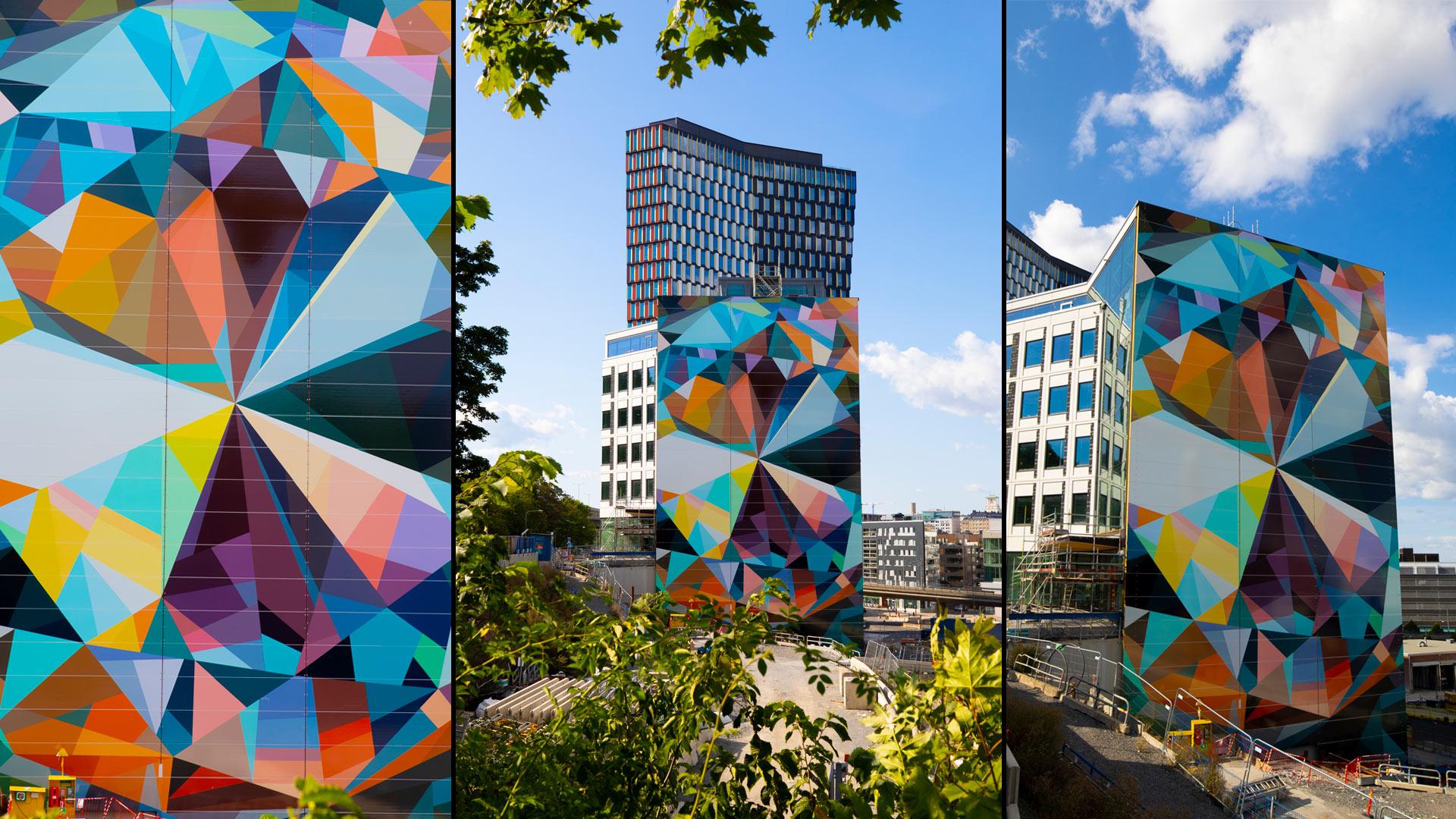 Konstverk på fasaden